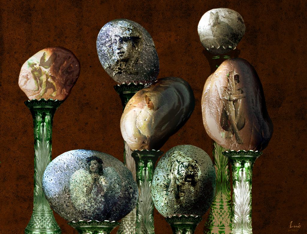 Piedras con arte taringa for Pintura sobre piedras