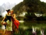 jovenes-junto-a-un-lago-flou-2