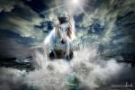 caballo en la luz