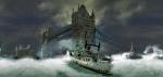puente londres barcos oscuro abajo
