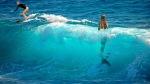surfista y sirena