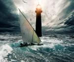 faro y barca latina