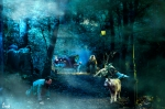el parque de los animales y el mago niebla